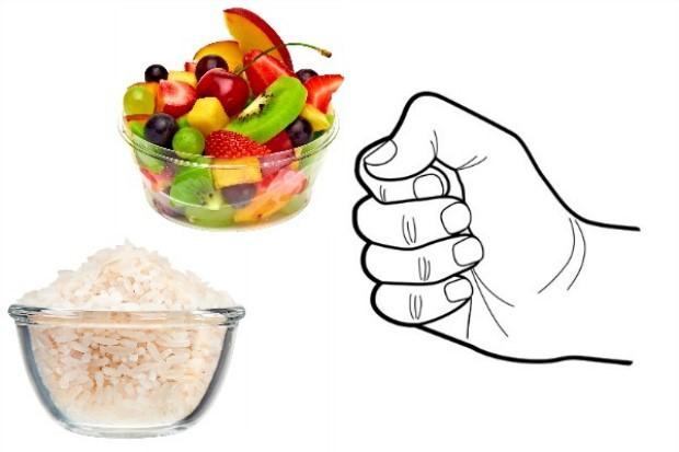Рука может рассказать, как правильно питаться и не поправляться